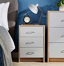 Home Source Bedside Cabinet Side Table Night Stand