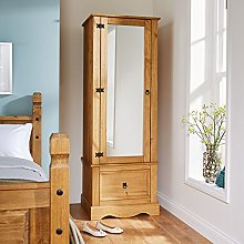 Home Source Corona Pine Armoire Wardrobe 1 Door