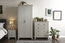 Home Source - Country Cottage Pine MDF Bedroom Set