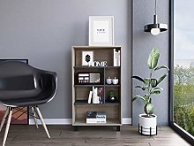 Home Source Display Bookcase Cabinet with 6 Grey