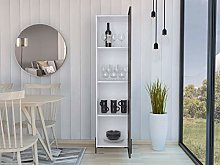 Home Source Display Storage Cabinet Cupboard Grey