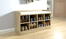 Home Source - Hallway Storage Unit Shoe Bench