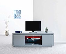 Home Source High Gloss TV Stand Cabinet LED Lights