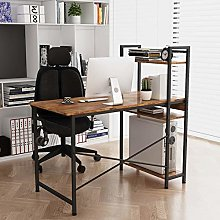 Home Source Industrial Style Metal Frame Wooden