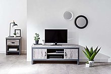 Home Source Industrial TV Stand Cabinet Television