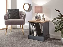 Home Source Lamp Table Bedside Cabinet Grooved