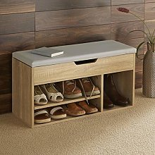 Home Source Malmo Large Oak Wooden 2 Tier Shoe