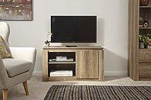 Home Source Oak Compact TV Cabinet Televison