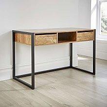 Home Source Office Desk Workstation 2 Drawer Shelf