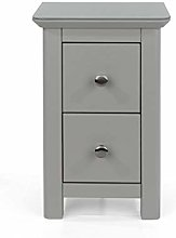Home Source Petite 2 Drawer Bedside Table Unit