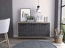 Home Source Sideboard Cupboard Cabinet with Doors
