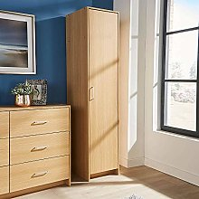 Home Source Single Door Narrow Wardrobe with