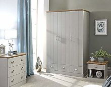 Home Source Stylish Wardrobe Grooved Doors with