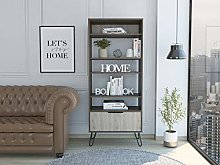 Home Source Tall Bookcase Display Cabinet 1 Door