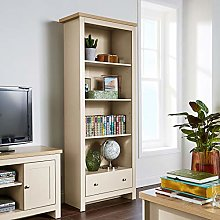 Home Source Tall Bookcase Display Cabinet 4 Book