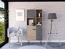 Home Source Tall Sideboard Bookcase Cupboard