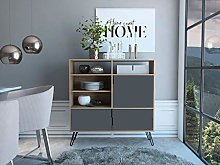 Home Source Tall Sideboard or TV Cabinet Cupboard