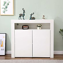 Home Source White Gloss Sideboard Cabinet Cupboard