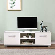 Home Source Wide TV Stand Gloss Fronts Television