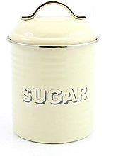 Home Sweet Home Retro Cream Sugar Canister