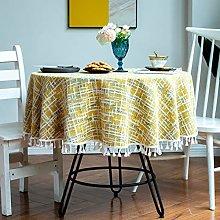 Home table cloth round dustproof tassel