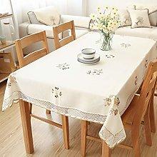 Home Tablecloths Washable Cotton Linen Table Cloth