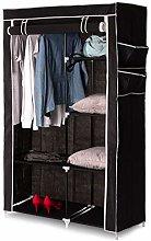 Home Treats Canvas Wardrobe Black. Hanging Clothes