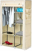 Home Treats Portable Rail Canvas Wardrobe Beige