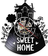 Home Vinyl Wall Clock Best Gift for Boyfriend