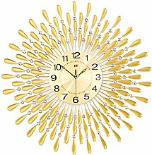 Home Wall Clock Crystal Design 20 Inches Frameless