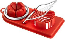 Home With 2 uses, Egg Slicer, Red Plastic/Steel,