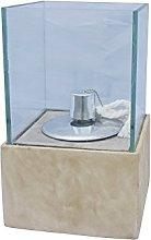 Homea 5BGD076BG Oil Lamp Glass Base Texture/Fibre