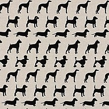 HomeBuy BLACK DOG Upholstery Curtain Cotton Fabric