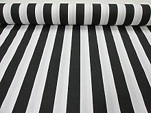 HomeBuy Black White Striped Fabric - Sofia Stripes