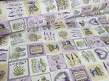 HomeBuy French Lavender Print Cotton Fabric Floral