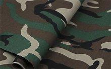 HomeBuy Green Army Camo Camouflage Fabric -