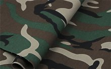 HomeBuy Green Army Camo Camouflage Fabric -