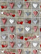 HomeBuy HEARTS - CHRISTMAS Designer Curtain