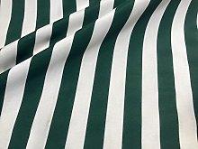 HomeBuy Khaki White Striped Fabric - Sofia Stripes