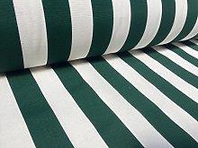 HomeBuy Khaki White Striped Fabric - Stripes