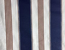 HomeBuy Marine Stripes Navy Blue Print Fabric -