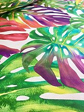 HomeBuy Multi Coloured Tropical Palm Leaves Fabric