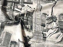 HomeBuy New York Curtain Upholstery Cotton Fabric