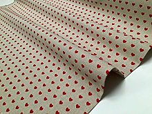 HomeBuy RED HEART CANVAS Upholstery Curtain Cotton
