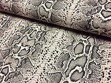 HomeBuy Snake Skin Python Black & Cream Animal