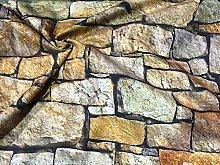 HomeBuy STONE WALL brick wall Print Curtain