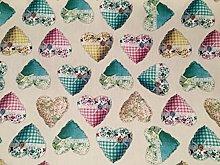 HomeBuy SWEET HEART Fabric Material Curtain