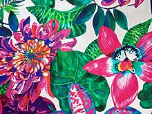 HomeBuy Tropical Flower Orchid Fabric Curtain