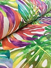 HomeBuy TROPICAL PALM LEAVES Fabric Curtain