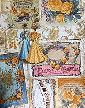HomeBuy VINTAGE ROSE Floral Print Designer Curtain